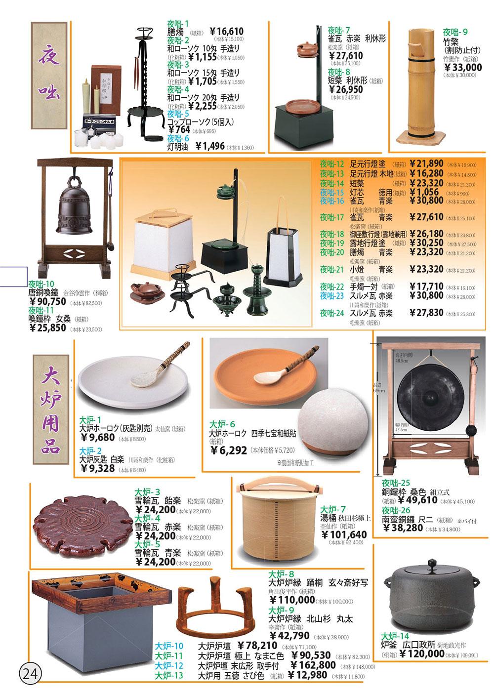 茶道具カタログ P24