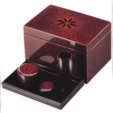 茶箱 菊彫 4点セット