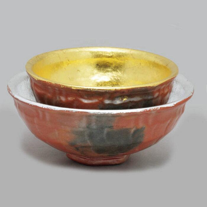 島台茶碗  金銀塗り直し
